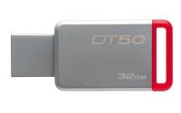 32Gb Kingston DT50, USB3.1/cеребристо-красный