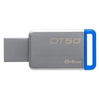 64Gb Kingston DT50, USB3.1/cеребристо-синий