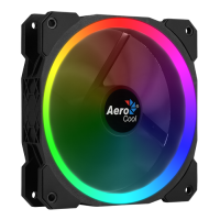 Fan 120х120мм AeroCool Orbit, RGB, Molex+3pin