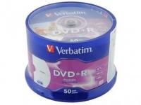 Диск DVD+R Verbatim, 4.7GB, 50шт
