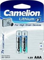 Батарея CAMELION FR03-BP2/Lithium P7/AAA/1.5V/1250mAh/2шт.