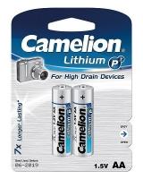 Батарея CAMELION FR6-BP2/Lithium P7/AA/1.5V/3000mAh/2шт.