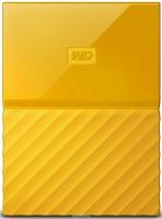 Внешний HDD 1000G WD My Passport, USB 3.0, желтый