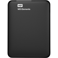 Внешний HDD 500G WD Elements, USB 3.0, (WDBUZG5000ABK-WESN)