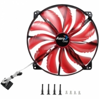 Fan 200х200мм AeroCool SilentMaster, Red Led