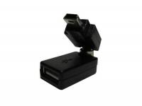 Переходник USB AF - mini USB/поворотный в 2-х плоскостях