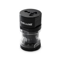 Универсальный адаптер Deluxe DWTA002B, 4 эл.разъёма, Чёрный