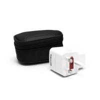 Универсальный адаптер Deluxe DWTAU03W, 4 эл.разъёма, USB, белый
