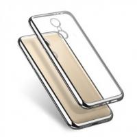 Чехол для Xiaomi Redmi 4a/Silicon/серебристый/прозрачный