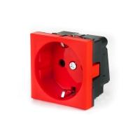 Розетка электрическая Рувинил/70102/Shuko/красная