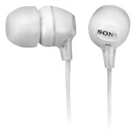 Наушники с микрофоном Sony MDREX15LPW, white