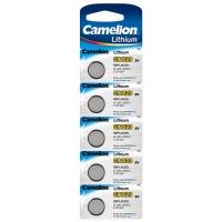 Батарейка CAMELION Lithium CR1620-BP5, 3V/220mAh, 5шт