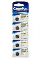 Батарейка CAMELION Lithium CR1225-BP5, 3V/220mAh, 5шт