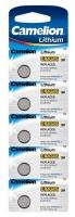 Батарейка CAMELION Lithium CR1216-BP5, 3V/220mAh, 5шт