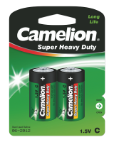 Батарейка CAMELION Super Heavy Duty R14P-SP2G, 1,5V, 2шт