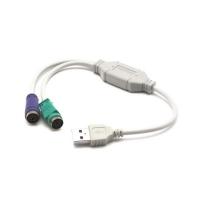 Переходник Deluxe DLA-2P/USB на PS/2(2порта)