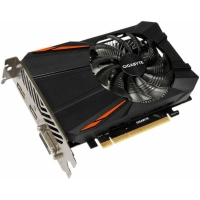 Видеокарта 4Gb Gigabyte GeForce GTX 1050Ti, 128bit, DDR5