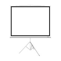 Экран на треноге Delux DLS-T153x116W/149*112см.4:3белый