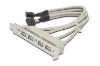 Кабель планка USB/Deluxe D-U4 (4порт/3м./металл)